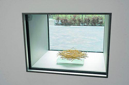"""Das Kunstwerk """"Goldenes Nest"""" war von außen und innen gut sichtbar.T. Goldberg"""