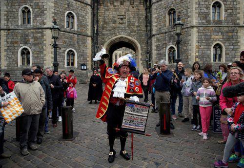 Der britische Stadtschreier Tony Appleton ist vor allem für seine inoffiziellen Ankündigungen von königlichen Ereignissen bekannt. AFP