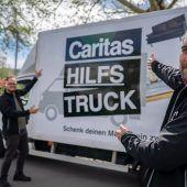 Hilfstruck stoppt in Ludesch und Thüringen