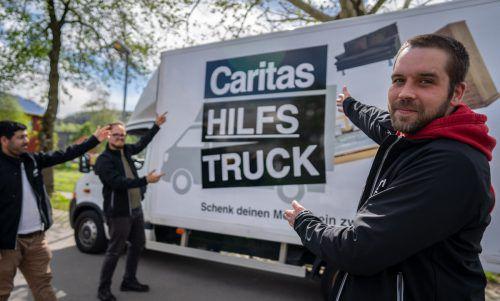 Der Caritas-Hilfstruck macht im Rahmen der Abholwoche auch halt in der Blumeneggregion. Caritas