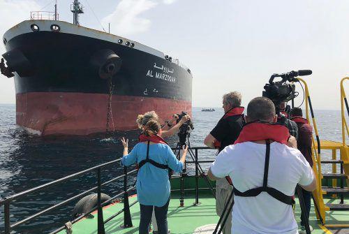 """Der saudi-arabische Öltanker """"Al-Marzoqah"""" ist eines der Schiffe, auf die Sabotage-Akte verübt wurden. afp"""