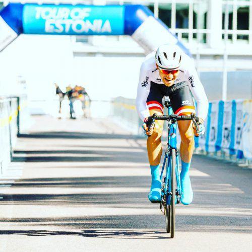 Der Schnellste zum Auftakt beim Zeitfahren: Matthias Brändle.Israel cycling academy