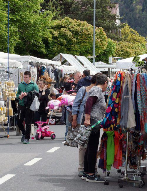 Die Bludenzer Innenstadt wird ab morgen zum großen Marktplatz. STadt