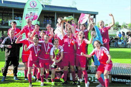 Die Damen des FC Dornbirn feierten mit dem 12:0-Finalerfolg den höchsten Sieg in der Geschichte des VFV-Frauencups. Luggi Knobel