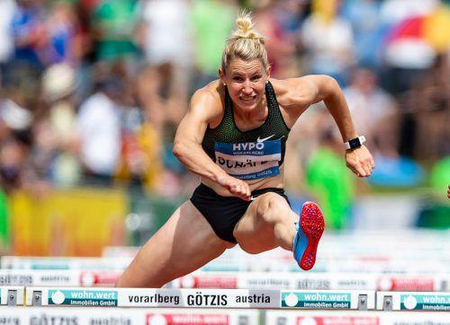 Die Deutsche Carolin Schäfer führt mit der Bestmarke von 6836 Punkten die Starterliste im Siebenkampf an. Nach zwei zweiten und einem dritten Rang hat die 27-Jährige bei ihrer siebten Götzis-Teilnahme das oberste Podest der Siegerehrung im Visier. GEPA