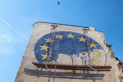 Die EU-Wahl sorgt für große Spannung.AFP