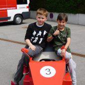 Renn-Action in der Rosenstraße