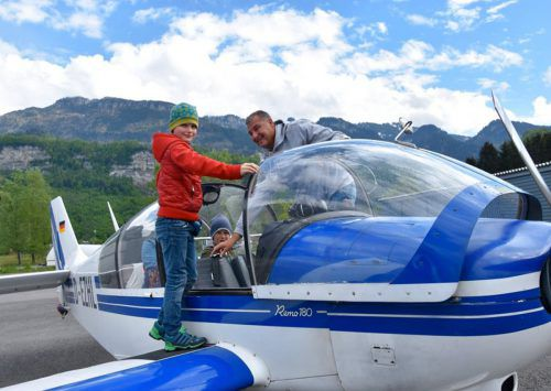 Die Kinder durften Vorarlberg aus der Luft bewundern. mima