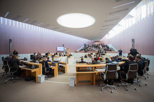 Die Legislaturperiode des Landtags neigt sich dem Ende zu. VN/Steurer