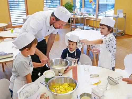Die Minikochschule in der CampusKüche. KinderCampus
