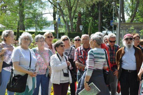 Die Pensionisten genossen die Natur im schönen Überlingener Stadtgarten und die informative Führung. Pensionistenverband vorarlberg