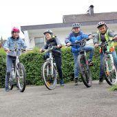 Mit dem Fahrrad gehts sicher zur Schule