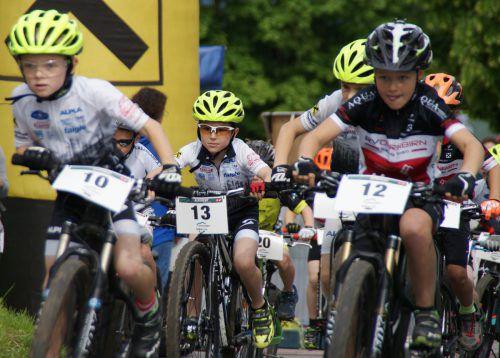 Die Straßen gehören während des Rennens von Wolfurt nach Buch den Radlern.