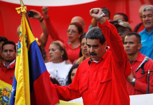 """""""Die Stunde des Kampfes ist gekommen"""", so Venezuelas Präsident Maduro. reuters"""