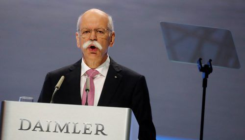 Dieter Zetsche nimmt als Vorstandschef bei Daimler Abschied. Reuters