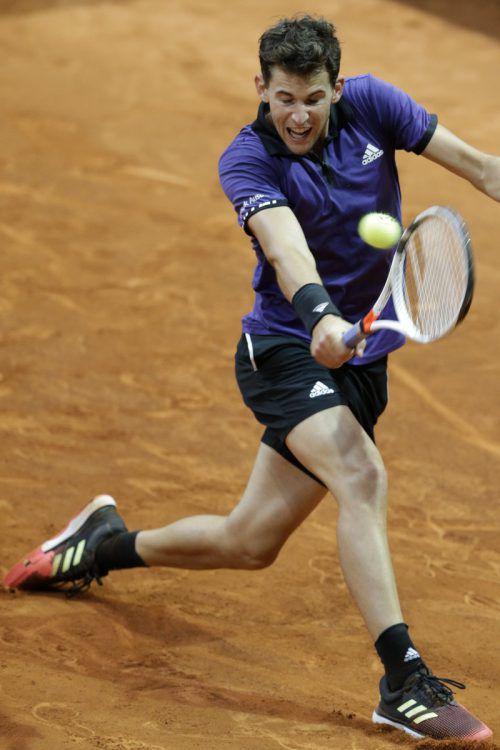 Dominic Thiem steht in Madrid bereits im Viertelfinale.ap
