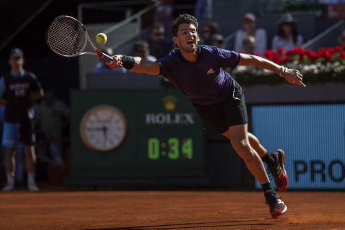 Dominic Thiem wehrte zwei Matchbälle ab, bewies unbändigen Siegeswillen und feierte im sechsten Duell mit Federer seinen vierten Erfolg. AP