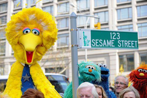 Ein Teil der West 63rd Street trägt den Namen der berühmten US-Kinderserie. AFP