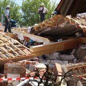 Schwere Explosion zerstört Wohnhaus im Allgäu