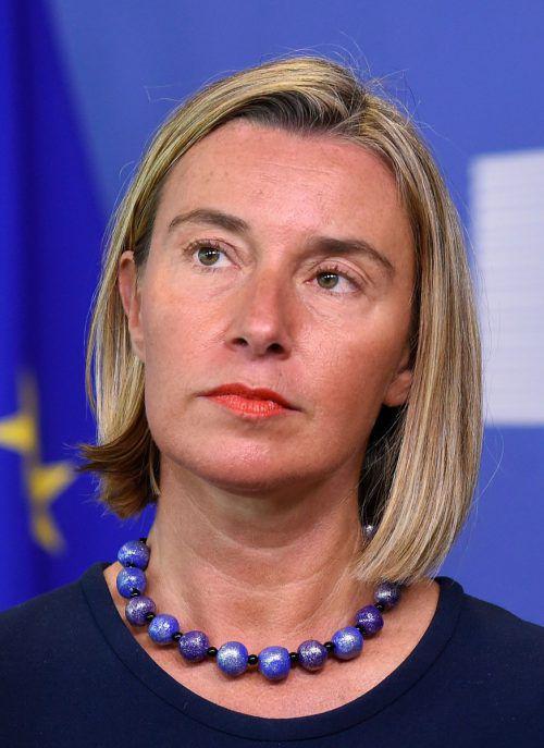 Federica Mogherini kritisierte die Regierung von US-Präsident Donald Trump. AFP