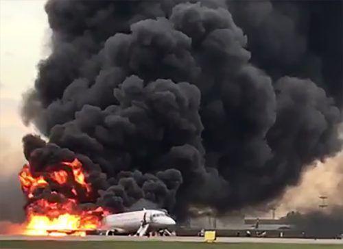 Feuer und Rauch: In Moskau kam es zu einer Katastrophe. AFP