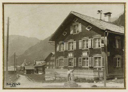 Geburts- und Wohnhaus von Franz Michael Felder in Schoppernau, 1905.felder-archiv/bregenz