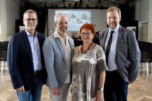 Gymn.-BZ-Direktor Helmut Abl (1), Christian Höpperger (MS Mittelweiherburg), Monika Reichart (VS Levis), HTL Rankweil-Direktor Johannes Mühlbacher (1).