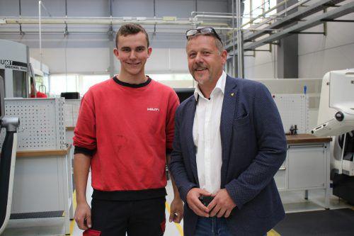 Hannes Mäser (r.) mit einem früheren Schüler: Marcel Hartmann.