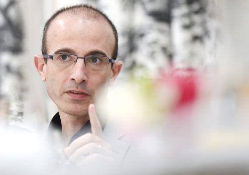 """Harari war im Rahmen des Zukunftsgespräch """"The European Dream"""" Gast in der Wirtschaftskammer in Wien. APA"""