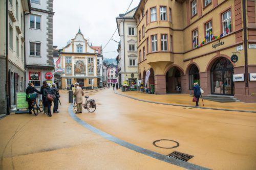In die Neugestaltung flossen zwei Millionen Euro. Ein Großteil davon wurde laut Stadt für neue Leitungen im Untergrund ausgegeben. VN/PS