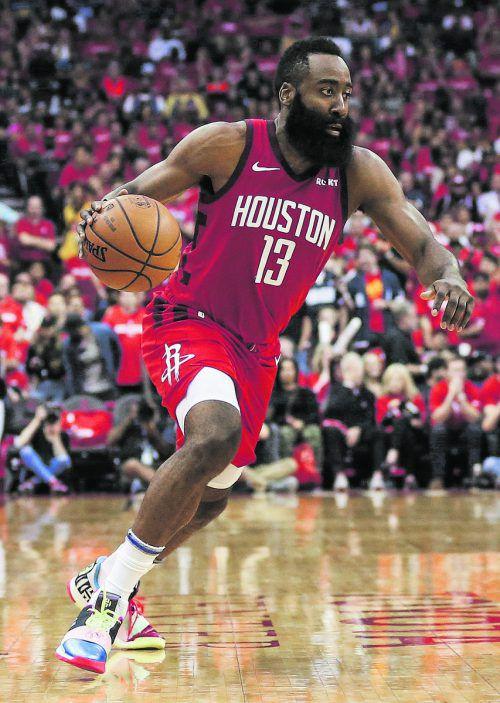 James Harden führte die Rockets im Play-off zum ersten Sieg gegen die Warriors.ap