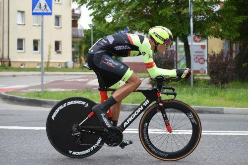 Jannik Steimle zeigte bei der Polen-Rundfahrt groß auf.Haumesser