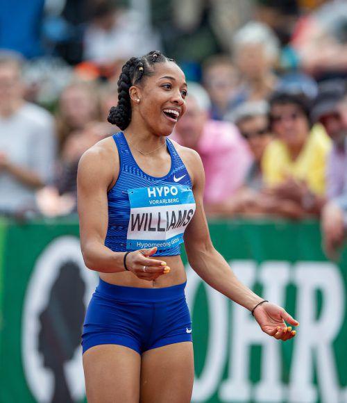 Kendell Williams war selbst erstaunt über ihre Zeit im 100-m-Hürdensprint.