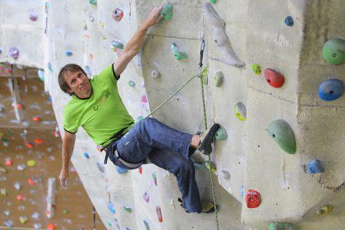 Kletterexperte Wolfgang Vogl konnte als externer Berater für die neue Boulderhalle in Bregenz gewonnen werden. VN/HB