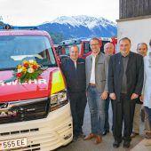 Fahrzeugweihe der Feuerwehr Vandans