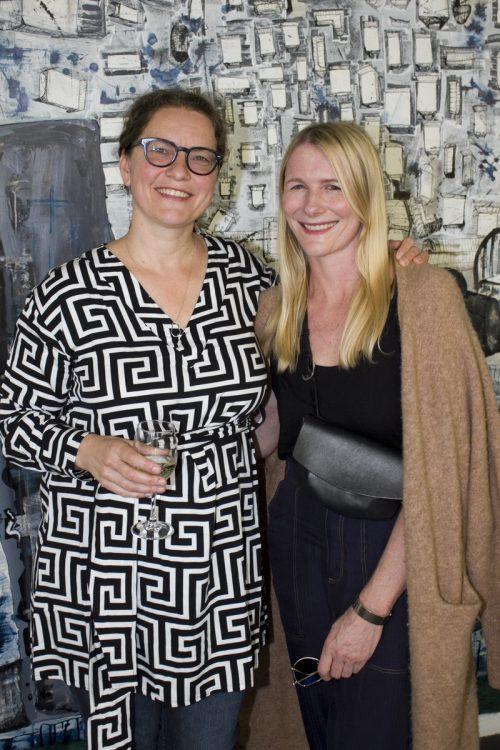 Künstlerkolleginnen Ulli Knall (l.) und Katja Berger.