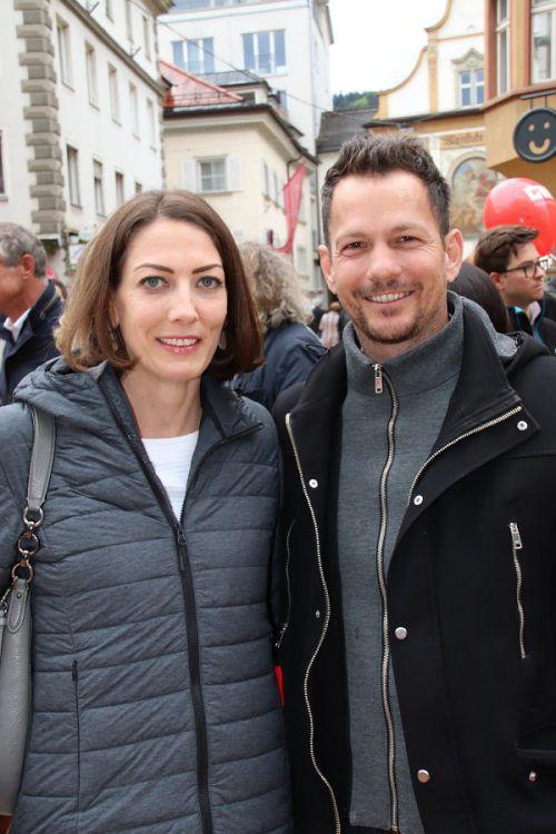 LAbg. Veronika Marte und Stadtmarketing-GF Robert S. Salant.