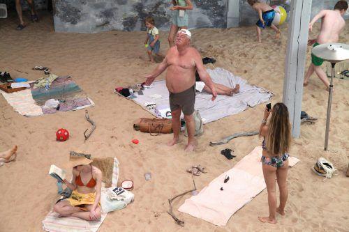 Litauen punktete bei der Jury mit einem Singspiel am Strand. apa