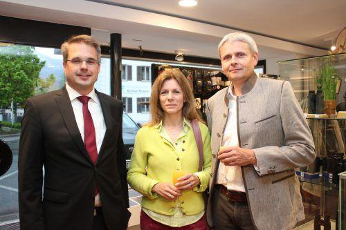 Lukas Gerstgrasser mit Sharon und Michael Tagwerker.