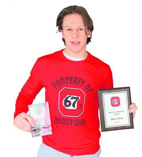 Marco Rossi hamsterte in der Premierensaison mit Ottawa gleich mehrere Auszeichnungen.ko