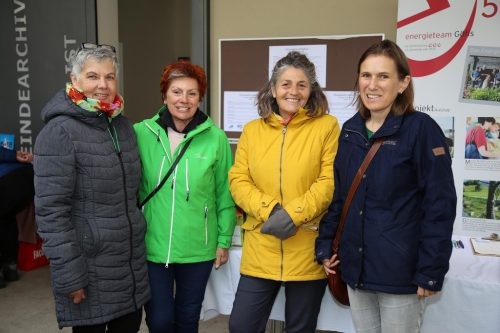 """Martha, Ingrid, Margareta und Sigrid beim """"goma""""."""