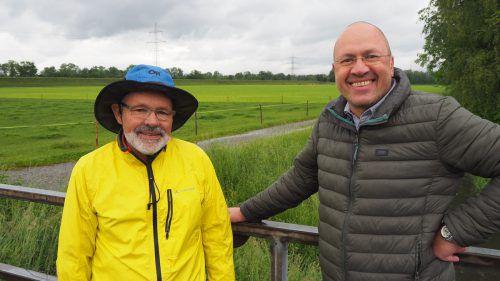 Max Hartmann und Bernhard Weber wollen die Altacher über die Kiespläne in der Studa abstimmen lassen. Egle