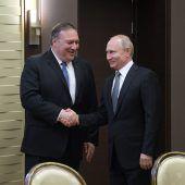 Lawrow und Putin treffen Pompeo