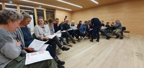 Mit den Teilnehmern wurden bei der Auftaktveranstaltung in Krumbach erste konkrete Maßnahmen für den Praxistest vereinbart. me
