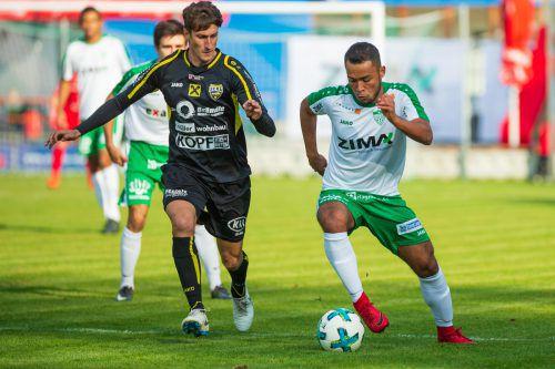 Mit vier Punkten aus zwei Spielen haben Paulo Victor Rodrigues De Souza und Co. den Anschluss in der Regionalliga geschafft und wollen nun nach vorne marschieren.VN/Stiplovsek