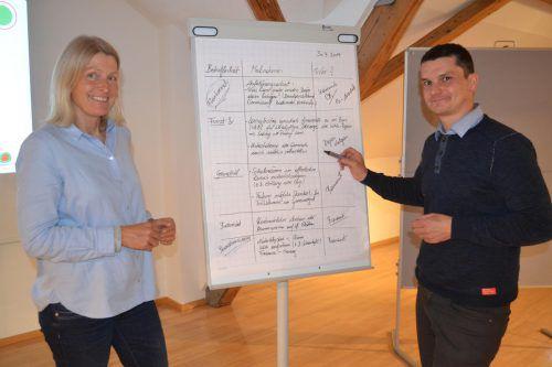 Monika Forster und Andreas Bertel präsentierten Fakten, aber auch Lösungsansätze. EM