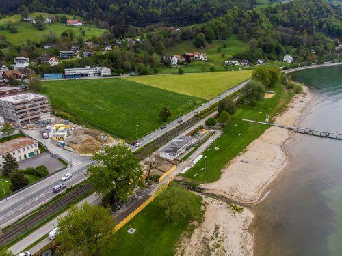 Nach der Badesaison wird das komplette Strandbadgebäude abgerissen und neu gebaut.                               VN/Paulitsch