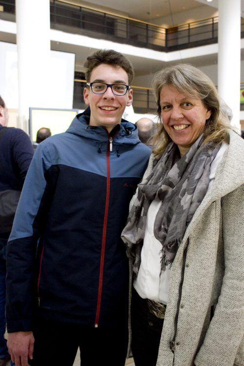 Pascal Kürbisch nahm Mutter Cornelia mit.
