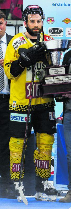 Peter Schneider, Österreichs besten Spieler der EBEL-Saison, zieht es in die Schweiz.gepa