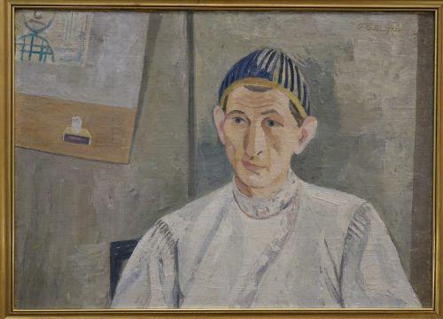 Porträt von Rudolf Wacker, gemalt von seinem Freund Oswald Baer.Oswald Baer 1930/Öl auf Leinwand